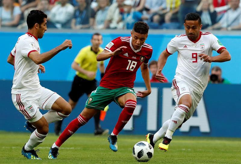 Irán, con gol en contra, se quedó con el duelo ante Marruecos.
