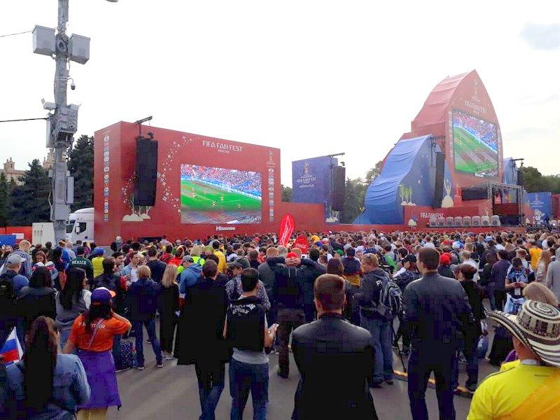 Así se vivió la inauguración del Mundial en las afueras del Estadio.