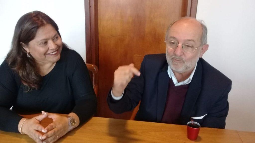 Marisa Arias y Aurelio García Elorrio, representantes de Encuentro Vecinal