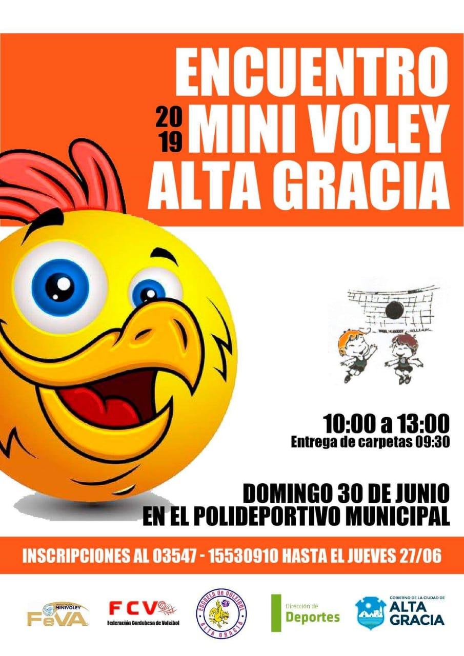 Se viene el Encuentro de Mini Voley Alta Gracia 2019