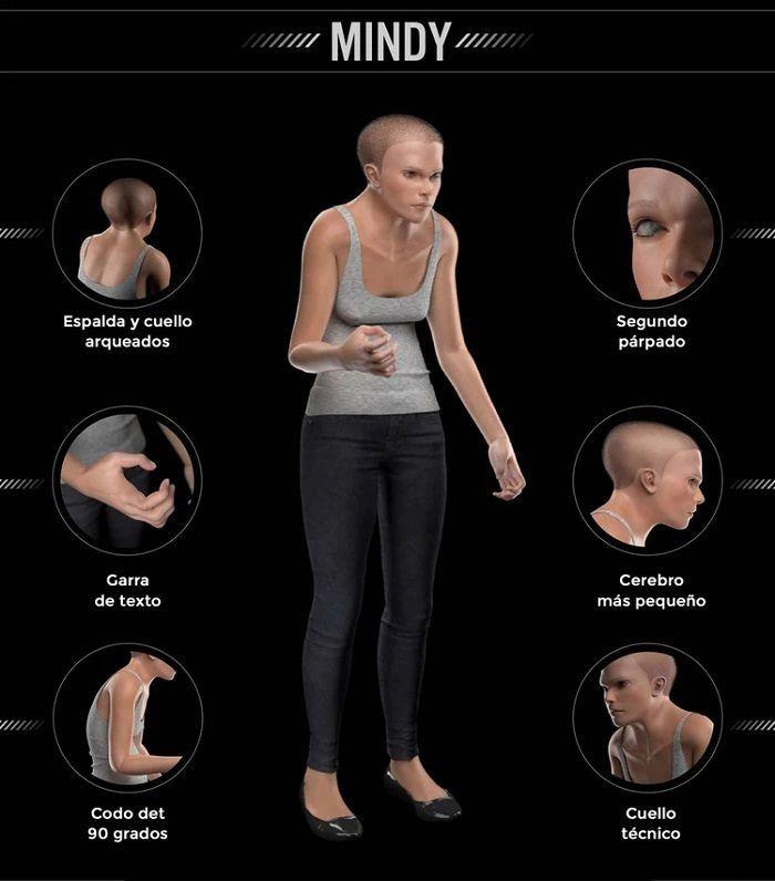 Se trata de una versión digitalizada de lo que podría ser el cuerpo humano en el año 3000