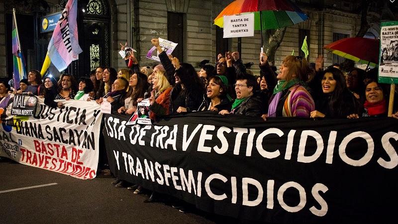 3º marcha contra los travesticidios y transfemicidios en Córdoba