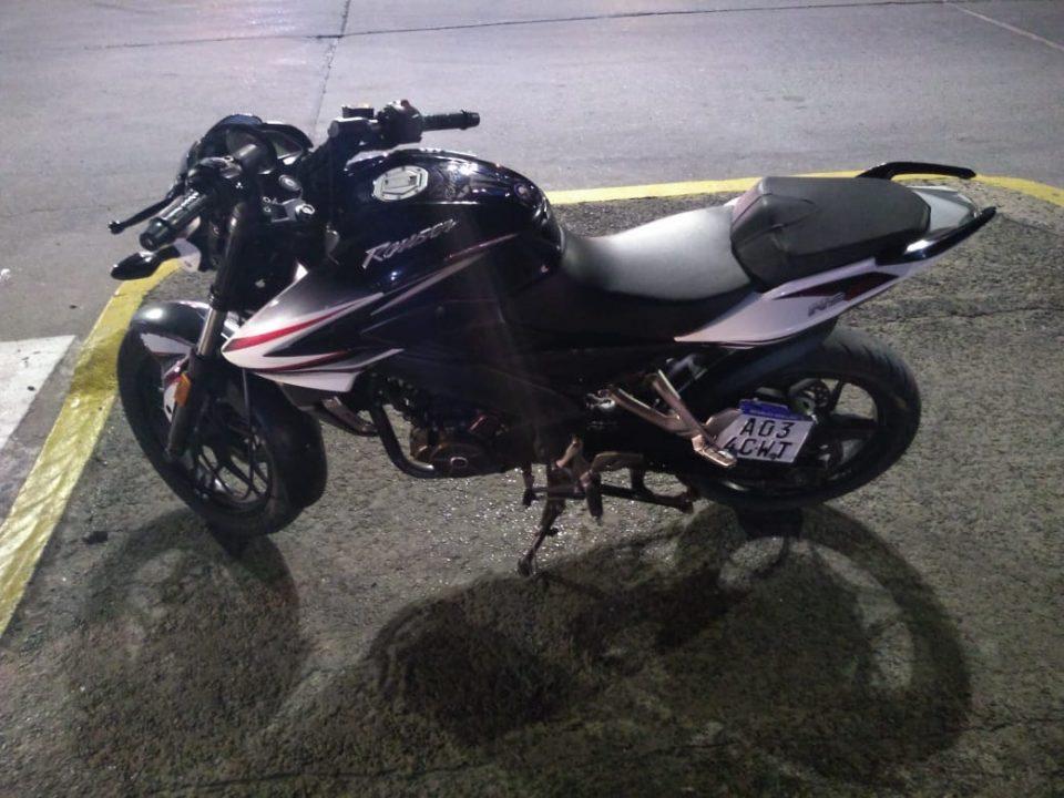 Una motocicleta secuestrada luego de un control en El Alto