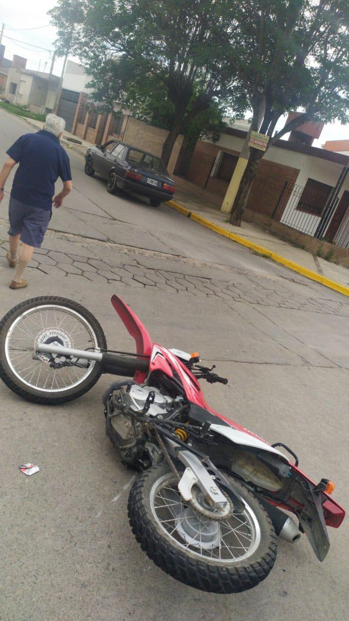 Accidente leve sin lesionados en Barrio Norte