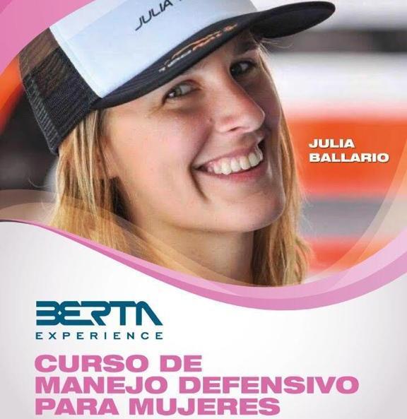 Oreste Berta propone una curso de manejo para mujeres de la mano de Julia Ballario