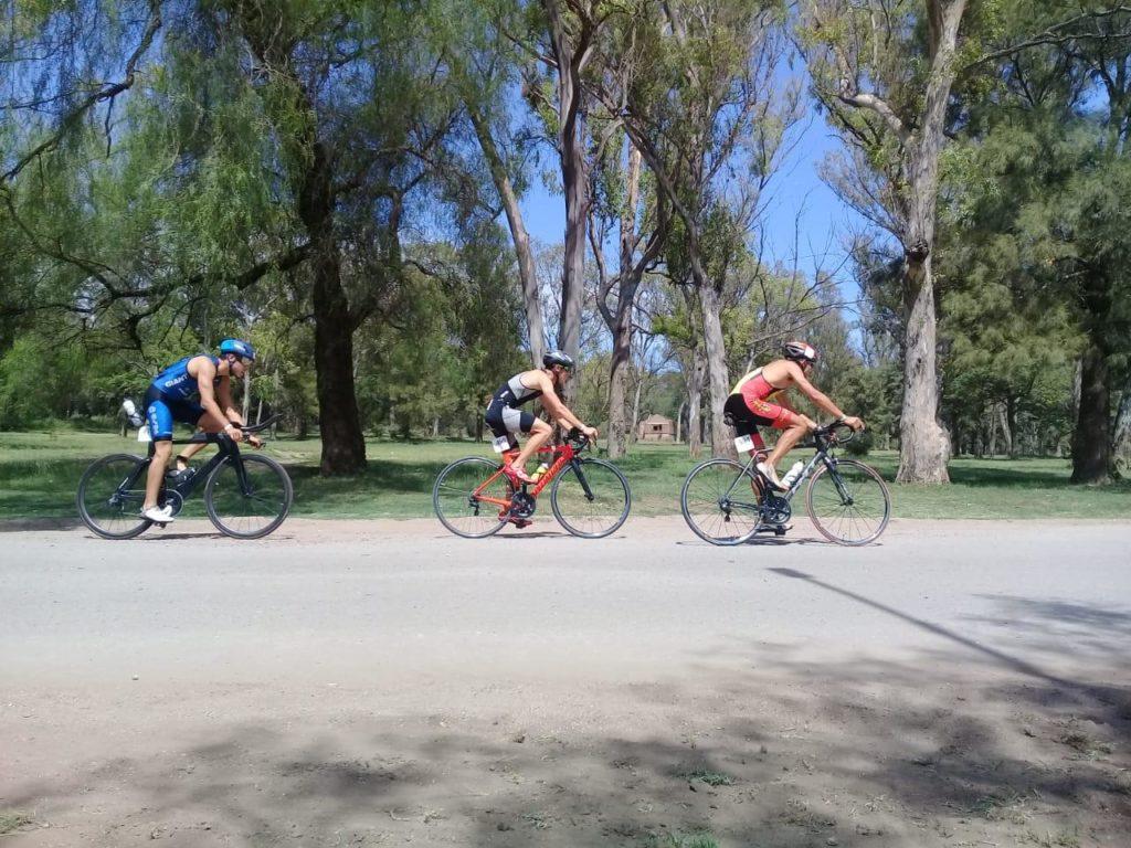 Durante los 40 km de ciclismo