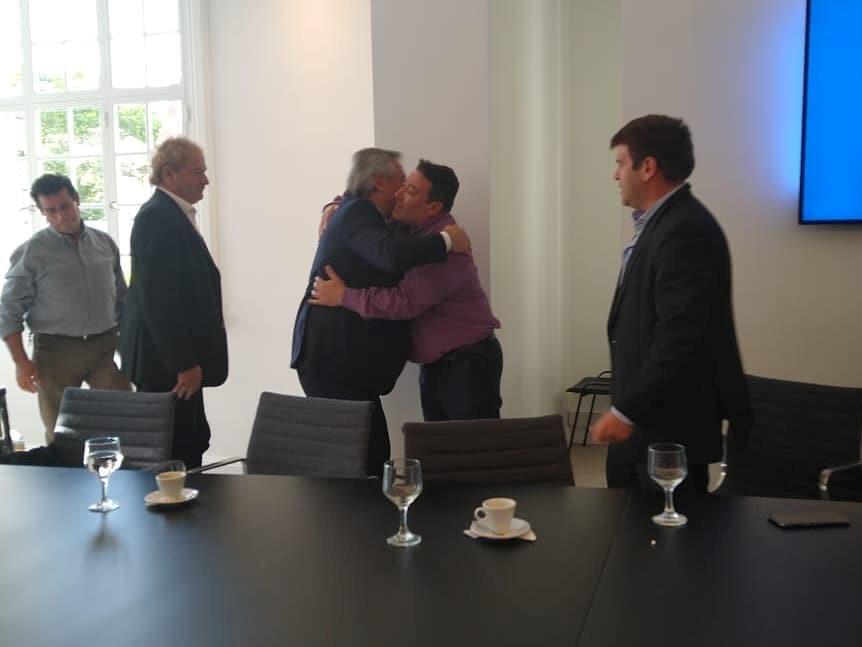 Ramón Zalazar se reunió con el presidente Alberto Fernández