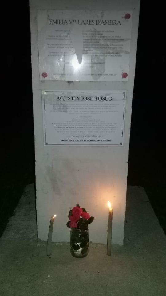 """Plazoleta de la Memoria en honor a """"Emi"""""""