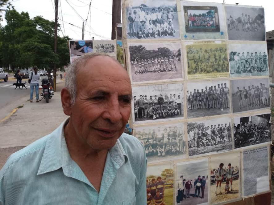 Roque Ruarte era un reconocido vecino de la localidad. Recopilaba historias del fútbol y participaba activamente en la vida de Malagueño.