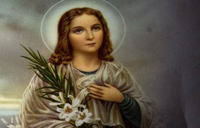 Las Fiestas Patronales en honor a Santa María Goretti serán con una misa que transmitirá por las redes sociales.