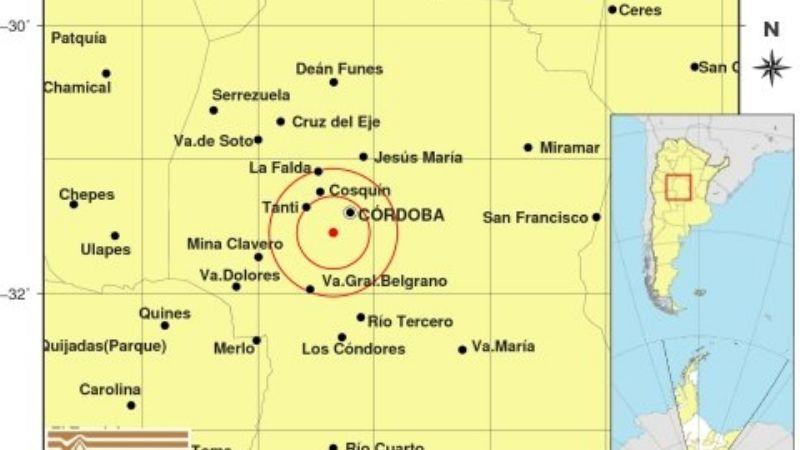 Fuerte sismo en Alta Gracia