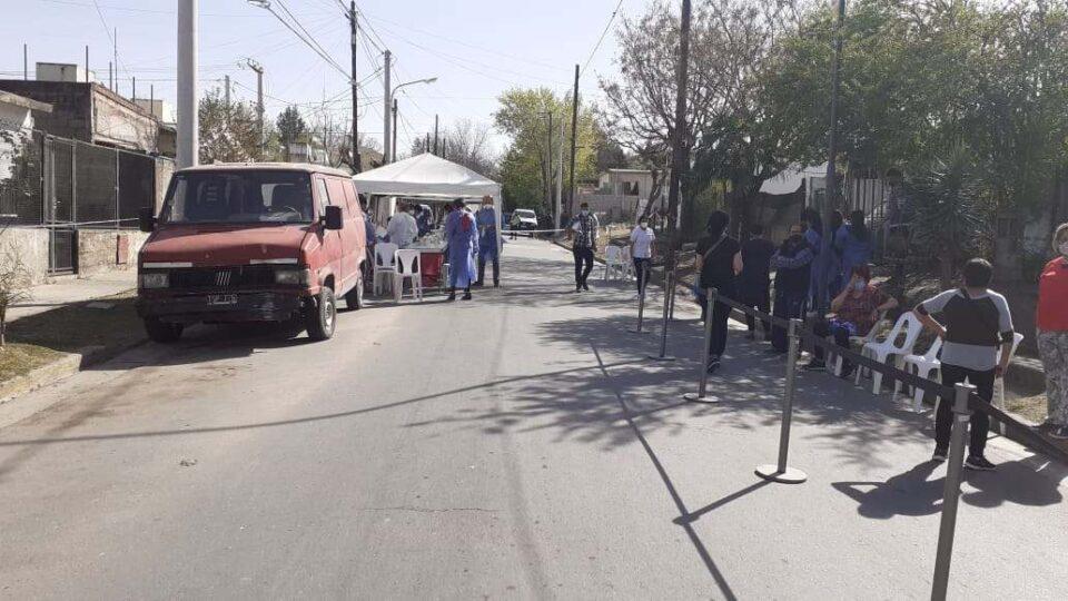 Se realizó la jornada de testeos preventivos en barrio Sabattini