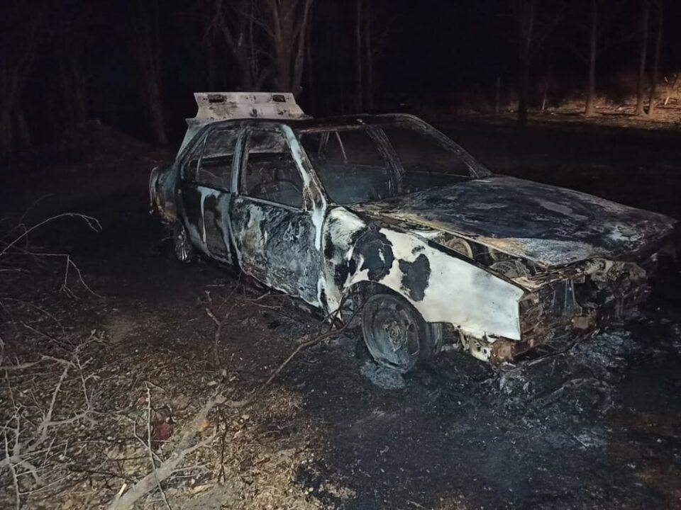 Se incendió un auto en Falda del Carmen