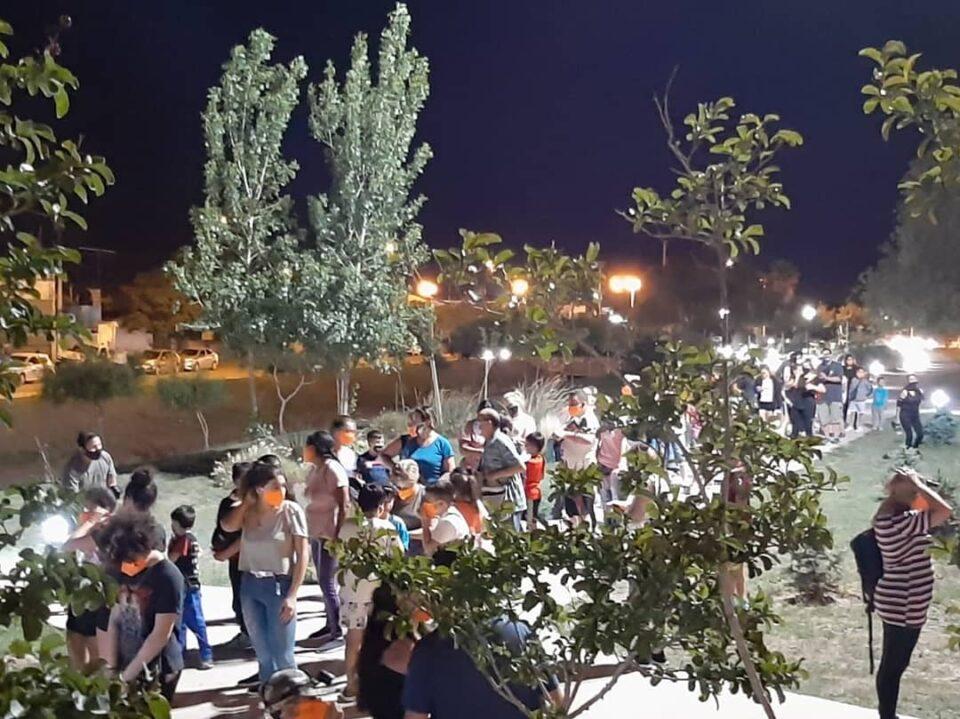 Fue multitudinaria la caminata nocturna en Despeñaderos