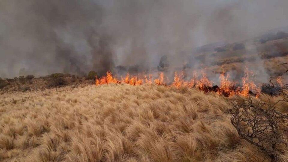 Dos focos de incendios en Traslasierra fueron extintos