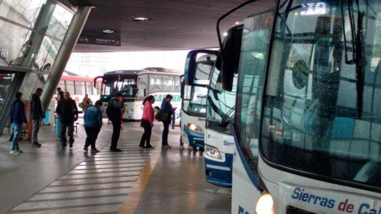 Interurbanos: sin pasajeros parados y con 80% de ocupación