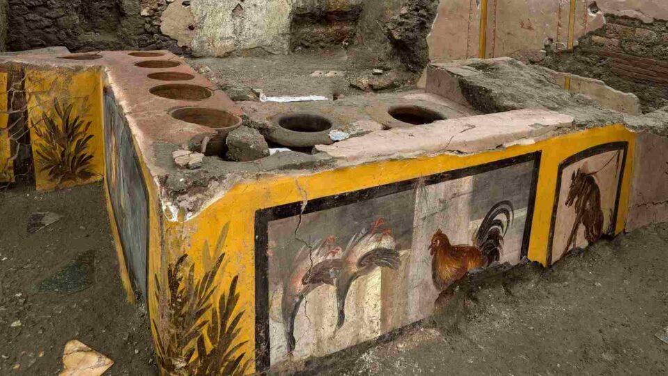 """Un """"fast food"""" de Pompeya, otro descubrimiento bajo las cenizas de la ciudad"""