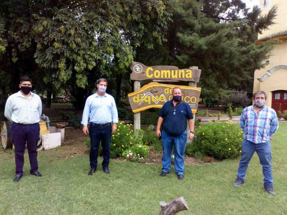 El jefe del ministerio de trabajo, empleo y seguridad de la nación visitó Anisacate y Dique Chico