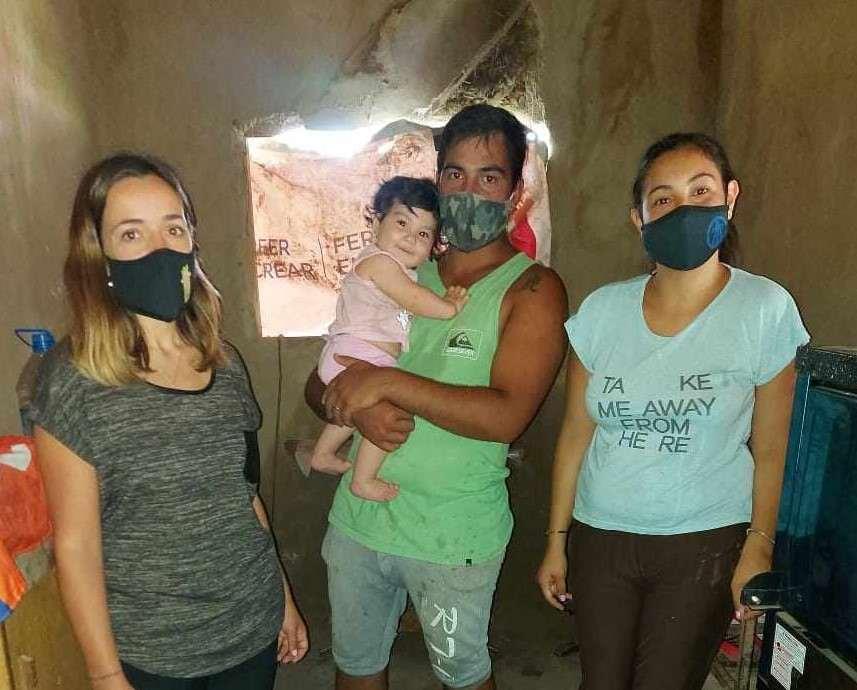 Williams Escobar y Elizabeth Gramajo del Barrio Valle de Alta Gracia son los afortunados jóvenes en salir elegidos por este proyecto.