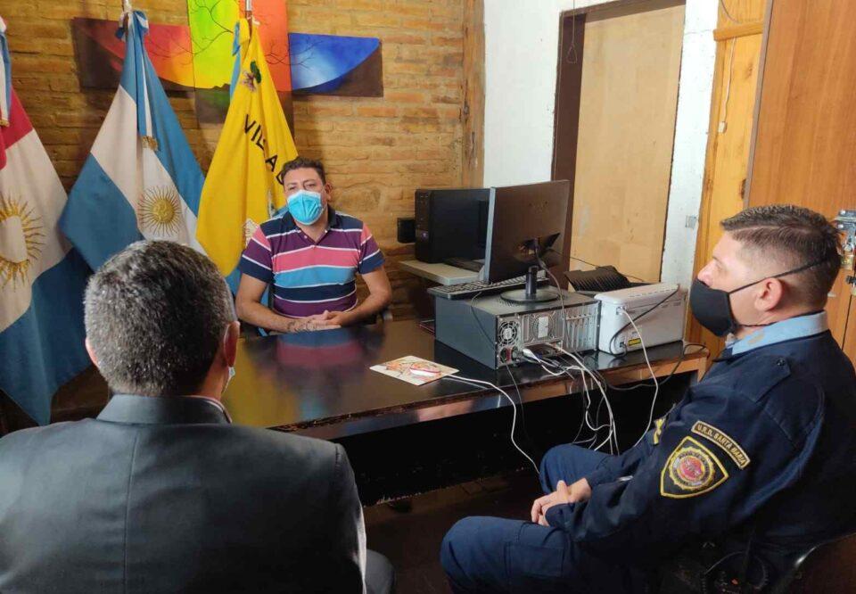 Nelson Luján reunión con Personal Policial