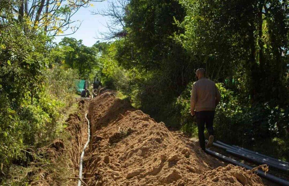 Anisacate: comenzó el trabajo para extender la red de agua potable