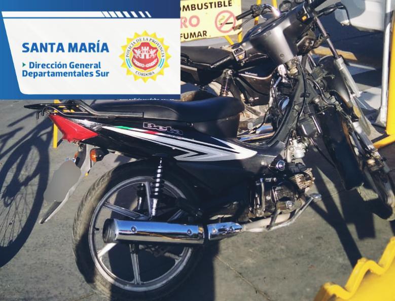 Hallaron una moto robada el año pasado