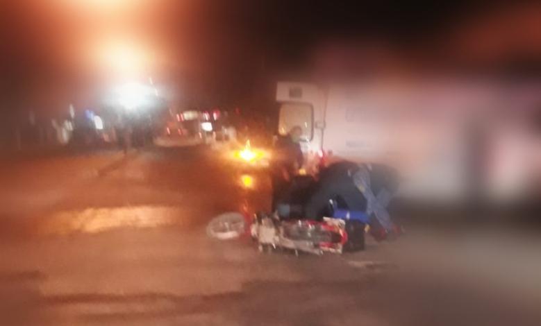 Un motociclista herido tras una fuerte colisión en Av. Libertador