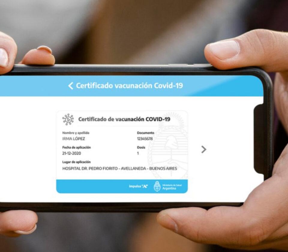 Los pasos para tramitar el certificado digital de vacunación