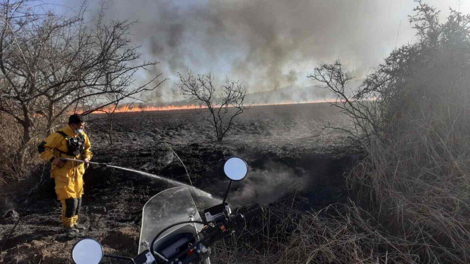 """Gran incendio en la Reserva de """"La Calera"""""""