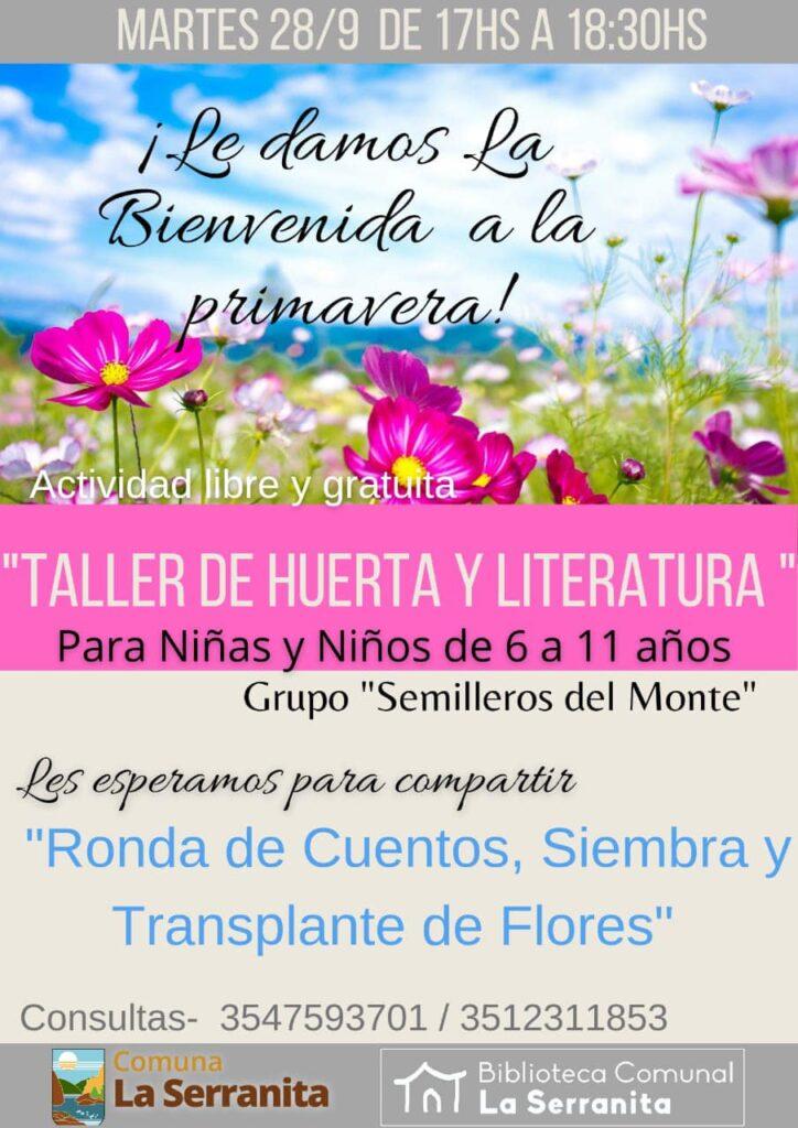 """La Serranita: Llega una nueva edición del """"Taller de Huerta y Literatura"""""""