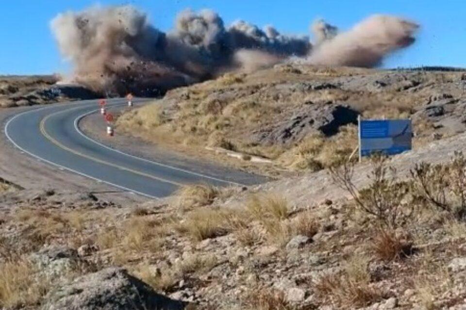 Cortarán el camino de las Altas Cumbres por voladuras