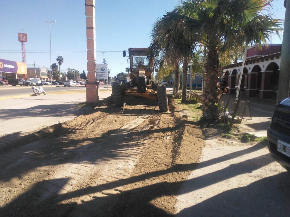 Municipio: se retomaron los trabajos de arreglo de calles de tierra