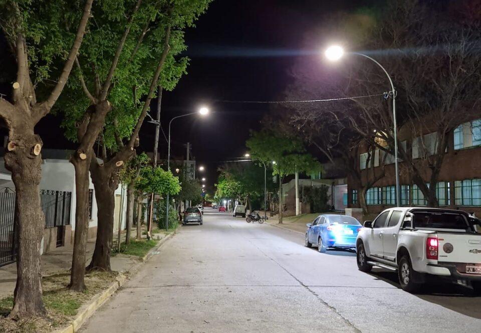 Quedó inaugurada la nueva iluminación de calle José Hernández